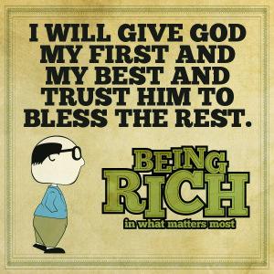 rich in God