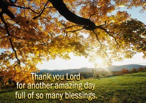 Thank You Lord For Amazing Day